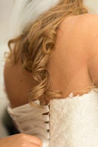 Förberedelser bröllopsklänning