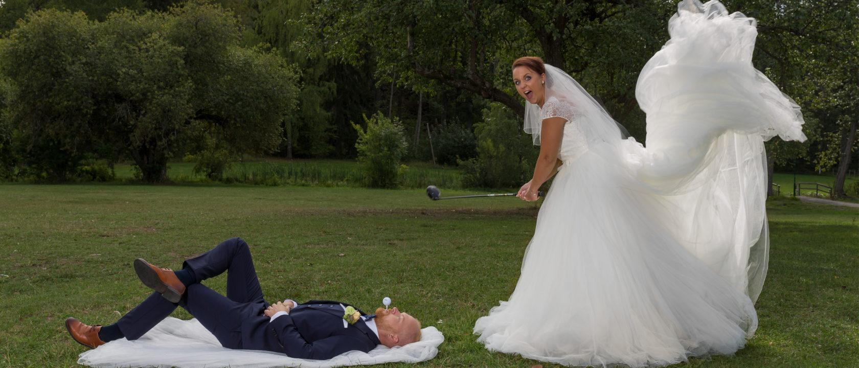 Bröllopsfotografering Golf