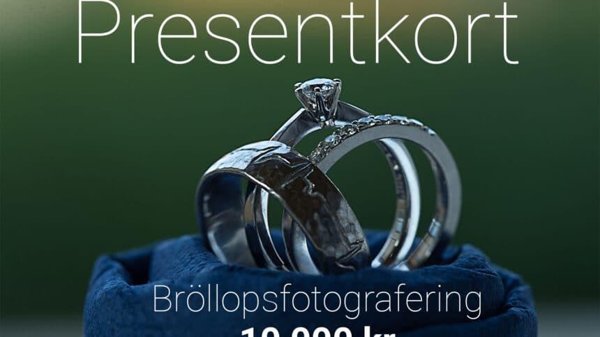 Presentkort Bröllopsfotografering