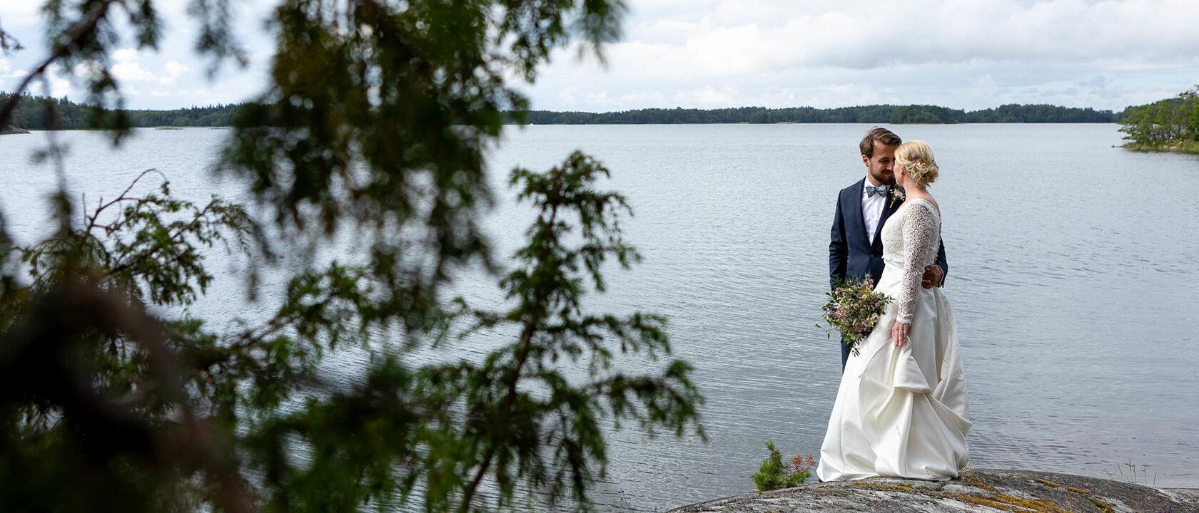 Bröllopsfotografering Furusund Hammerska ladan