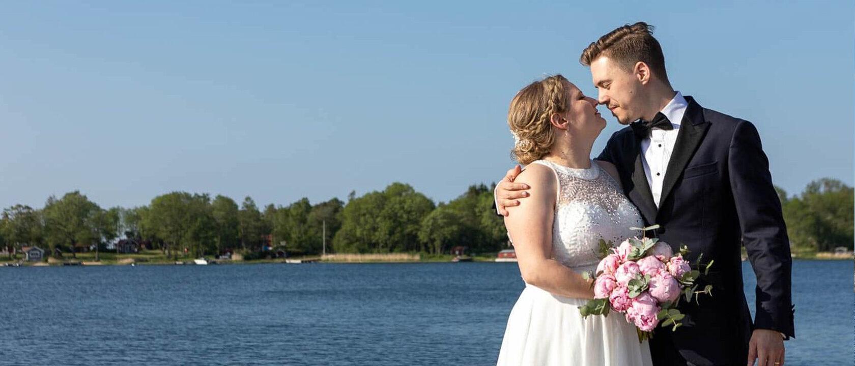 Bröllopsfotografering Gräddö Rådmansö Norrtälje Roslagen