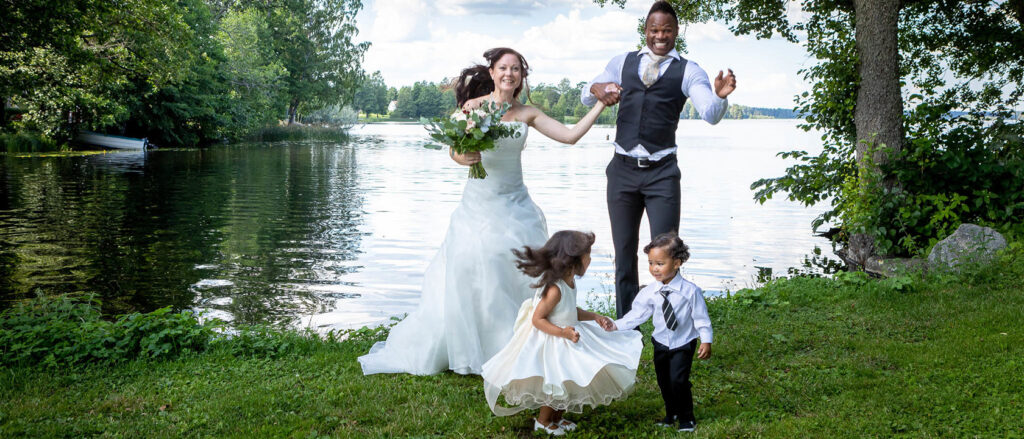 Bröllopsfotografering Gimo herrgård